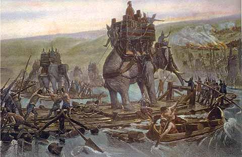 Elefanti e Ponte di Messina