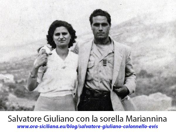 Salvatore Giuliano con la sorella